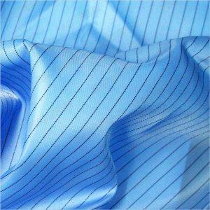 ผ้าโพลีเอสเตอร์ทอลายทแยงโพลีเอสเตอร์ 5 มม. สำหรับผ้าป้องกันไฟฟ้าสถิตย์