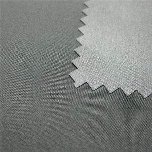โพลีเอสเตอร์ 100% Polyester Pongee Coated กันน้ำ Outdoor Jacket Fabric