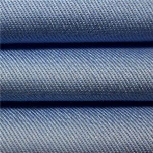 ผ้าฝ้าย 100% สิ่งทอลายทแยงผ้าย้อมสี carded ย้อมผ้า workwear สม่ำเสมอ